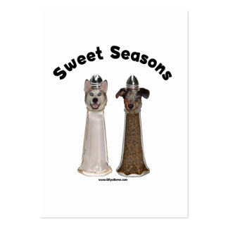 Sweet Seasons Salt and Pepper Dogs Business Card Templates