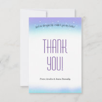 Sweet Sentiment Baby Shower Thank You Card