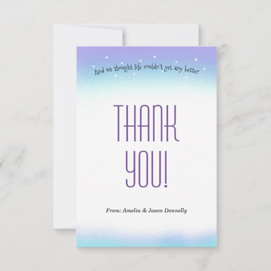 Sweet Sentiment Baby Shower Thank You Card Zazzle
