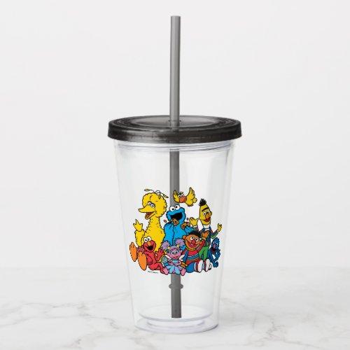 Sweet Sesame Street Pals Acrylic Tumbler
