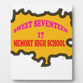 Sweet Seventeen 17in memory High Scholl Display Plaques