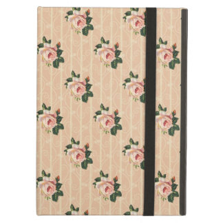 Sweet Shabby Chic Pink Roses Vintage Floral iPad Cover