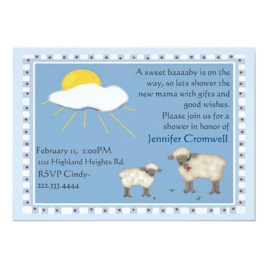 Sweet Sheep baby shower invitation