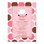 Sweet Sheep Baby Shower Invitation Pink Girl
