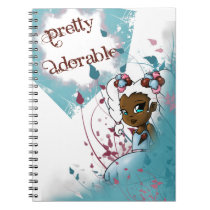 """""""Sweet Sherbet Ebonie Floral"""" Notebook"""