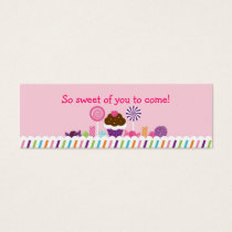 Sweet Shop Candy Goodie Bag Tags