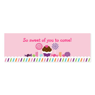Sweet Shop Candy Goodie Bag Tags Business Cards