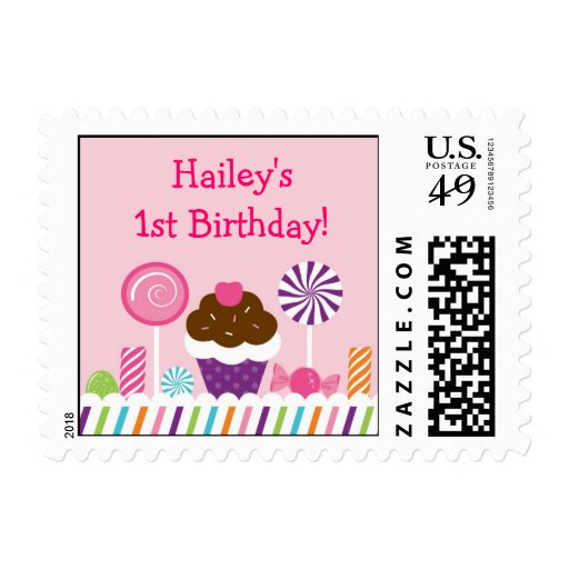 Sweet Shop Candy Postage Stamps