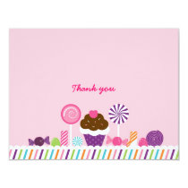 Sweet Shop Candy Thank You Note Cards
