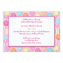 Sweet Shop Lollipop Baby Shower Invitations
