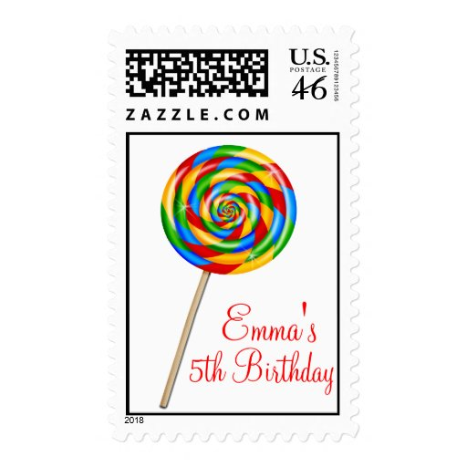 Sweet Shop Lollipop Candy Postage Stamps