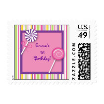 Sweet Shop Lollipop Girl Postage Stamps