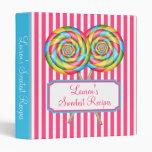 Sweet Shop Lollipop Recipe Binder