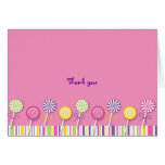 Sweet Shop Lollipop Thank You Note Cards