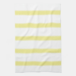 Sweet Shop Yellow Ribbons on White Dish Towels