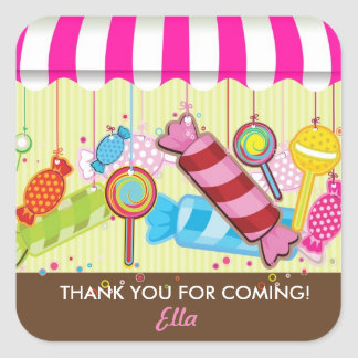 Sweet Shoppe Candy land Birthday Party Stickers