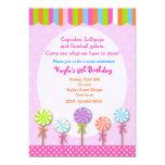 Sweet Shoppe  Candyland Birthday Invitations