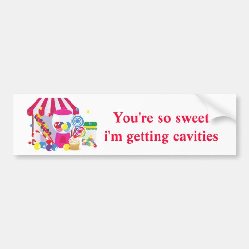 Sweet Shoppe Car Bumper Sticker