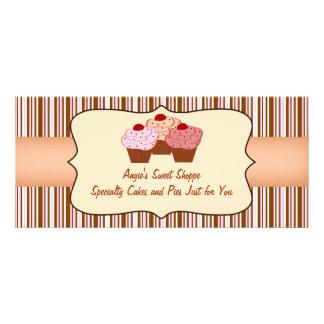Sweet Shoppe Cupcake Business Gift Certificate Custom Rack Card