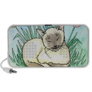 Sweet Siamese Cat Doodle Speaker
