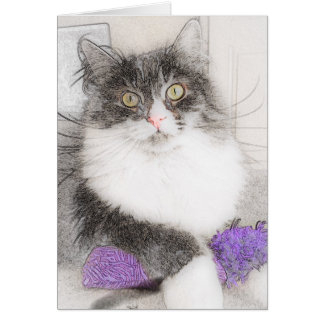 Sweet Siberian Original Art Note Cards