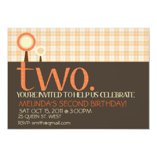 Sweet Simple Second Birthday Invitation