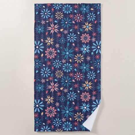 Sweet simple vintage floral beach towel