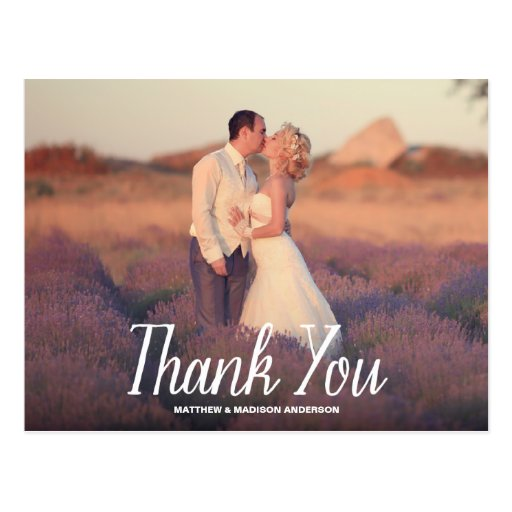 sweet simple wedding thank you post card zazzle