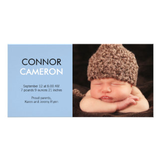 Sweet Simplicity Baby Birth Announcement - Blue