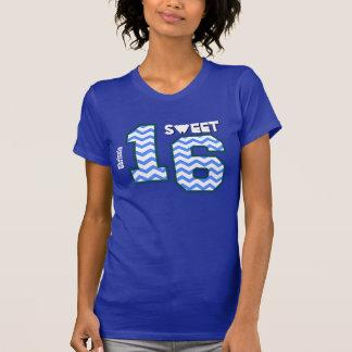 Sweet Sixteeen 16 Birthday Zig Zag Custom Name A05 Tee Shirts