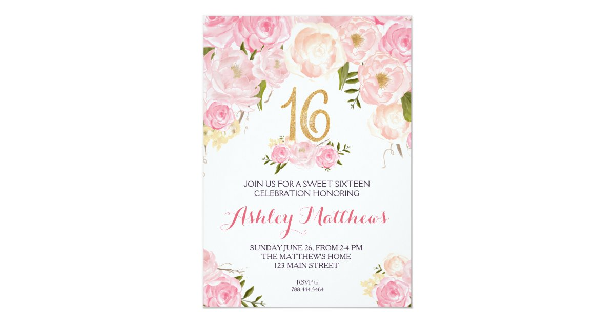 httpsrlvzcachesweetsixteen16birthdayf – Sweet 16 Invitation Card