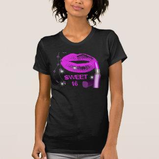 Sweet Sixteen 16 Purple Hot Pink Lips Lipstick Shirts