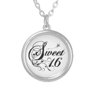 Sweet Sixteen (16) Quotes Round Pendant Necklace
