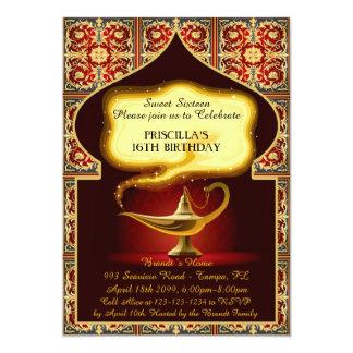 Sweet Sixteen, 16th 15th birthday, Arabian night Card