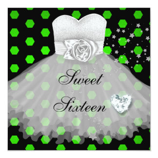 SWEET SIXTEEN 16th Birthday Party Card