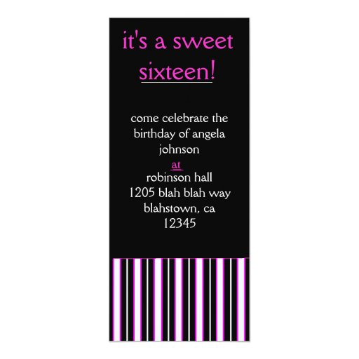 sweet, sixteen, and sophisticated personalized invites