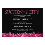 Sweet Sixteen and The City Sweet 16 Birthday Party Card