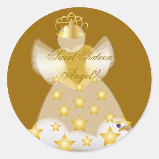 Sweet Sixteen Angel! Sticker-Customize Classic Round Sticker