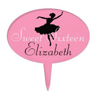 Sweet Sixteen-Ballerina Cake Toppers