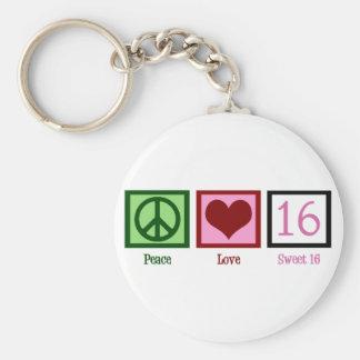 Sweet Sixteen Basic Round Button Keychain