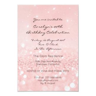 Sweet Sixteen Birthay Pink Rose Gold Glitter Card