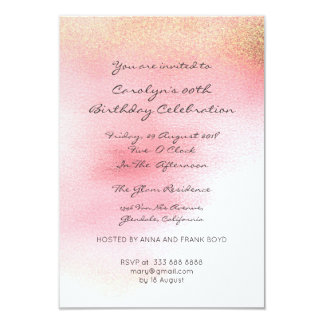 Sweet Sixteen Birthay Pink Rose Gold Ombre Card
