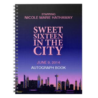 Sweet Sixteen Birthday Autograph Memories Spiral Notebook