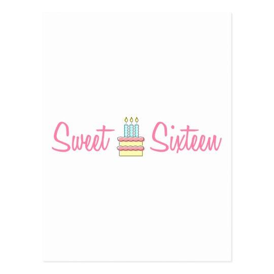 Sweet Sixteen (Birthday Cake) Postcard