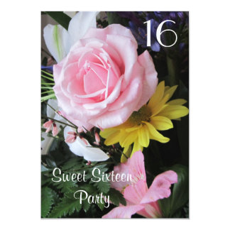 Sweet Sixteen Birthday Celebration!-Pink Rose Card