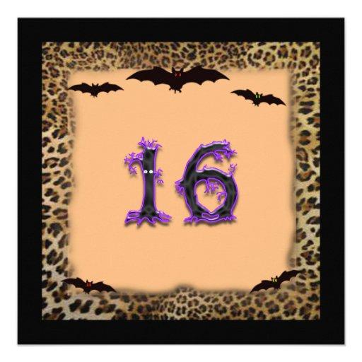 Sweet Sixteen Birthday Invitation, Halloween