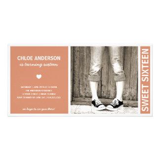 SWEET SIXTEEN | BIRTHDAY INVITATION PHOTO GREETING CARD