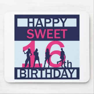 Sweet Sixteen Birthday Mouse Pad