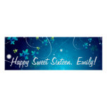 Sweet Sixteen Birthday Party Banner Print