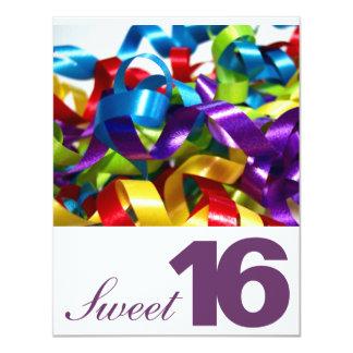 "Sweet Sixteen Birthday Party Invitations 4.25"" X 5.5"" Invitation Card"